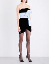 Alexandre Vauthier Asymmetric velvet mini dress