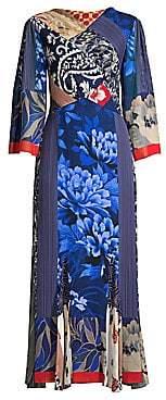 Etro Women's Patchwork Paisley Silk Midi Dress