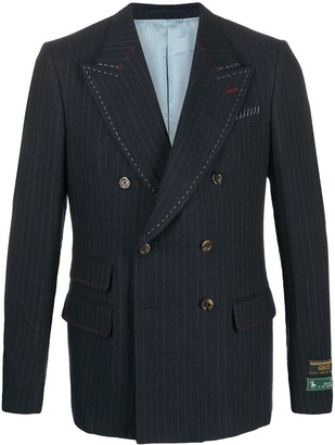 Gucci Pinstriped Double Breasted Blazer