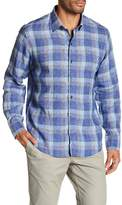 Zachary Prell Slim Fit Plaid Linen Button Down Dress Shirt
