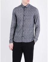 The Kooples Swirl-pattern Slim-fit Woven Shirt