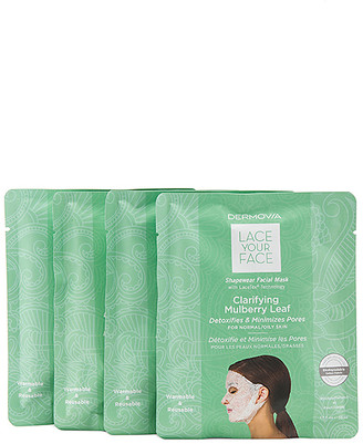 Dermovia Clarifying Mulberry Lace Your Face Mask 4 Pack