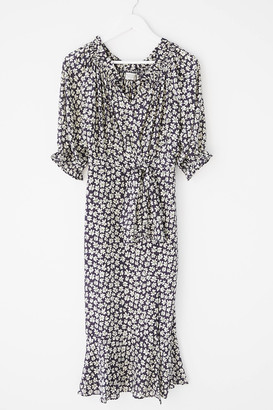 Dress Forum Floral Midi Wrap Dress
