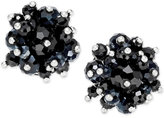INC International Concepts Silver-Tone Jet Bead Clip-On Earrings