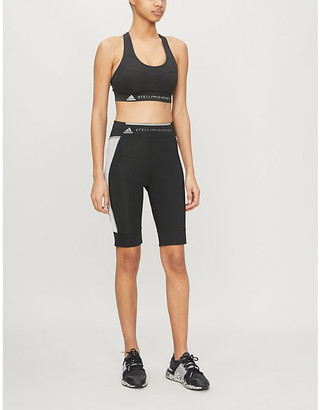 adidas by Stella McCartney Run stretch-jersey shorts