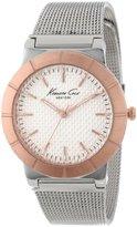 Kenneth Cole New York Women's KC4907 Classic White Dial Rose Gold Bezel Mesh Bracelet Watch