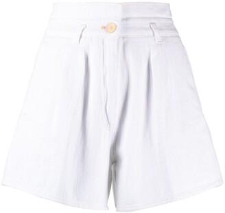 Forte Forte High-Waist Cotton Shorts