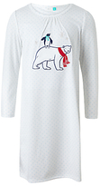 John Lewis Children's Polar Bear Long Sleeve Night Dress, White