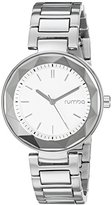 RumbaTime Women's 20236 Madison Gem Analog Display Japanese Quartz Silver Watch