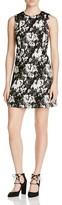 Paule Ka Lace Print A-Line Dress
