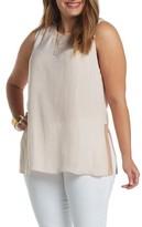 Tart Plus Size Women's Lily Knit Trim Woven Tank