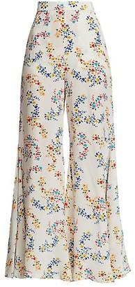 All Things Mochi Coco Printed Wide-Leg Pants