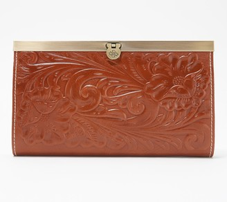 Patricia Nash Cauchy Leather Wallet Embossed