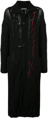 Yohji Yamamoto Contrast Knit Duffle Coat
