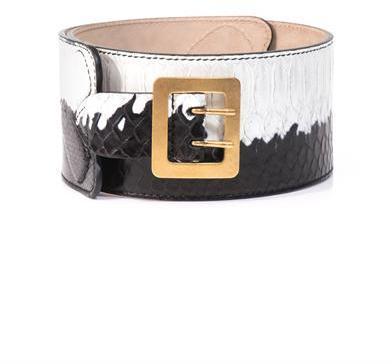 Alexander McQueen Python bi-colour waist belt