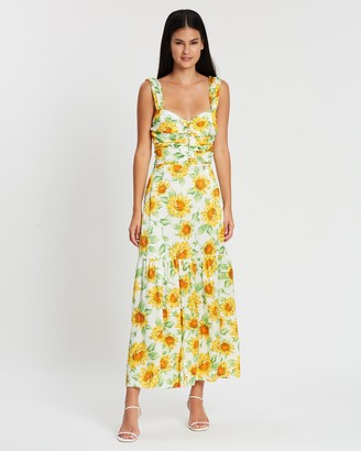 Bec & Bridge Francine Silk Midi Dress