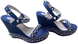 Christian Louboutin Blue Leather Sandals
