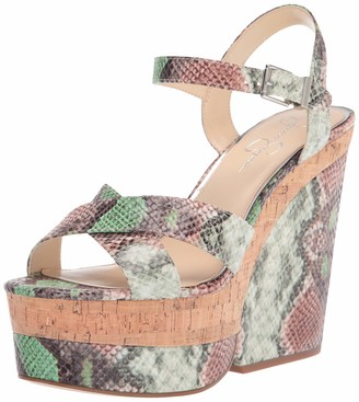 Jessica Simpson Jirie Heeled Sandal Green Combo 11