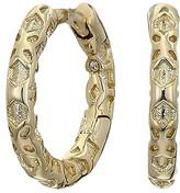 Kendra Scott Maggie Huggie Earrings (Gold Filigree Metal) Earring