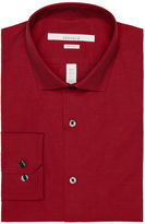 Perry Ellis Very Slim Solid Dobby Dot Dress Shirt