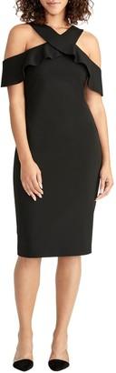 Rachel Roy Cold Shoulder Crepe Scuba Dress