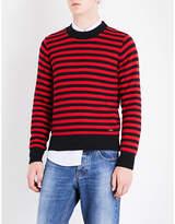 Ami Alexandre Mattiussi Striped Knitted Jumper