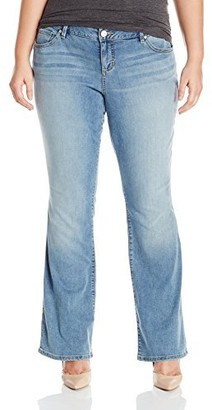 SLINK Jeans Women's Plus Size Tamara Boot Cut Jean