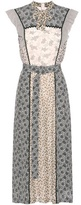 Bottega Veneta Printed Silk Midi Dress