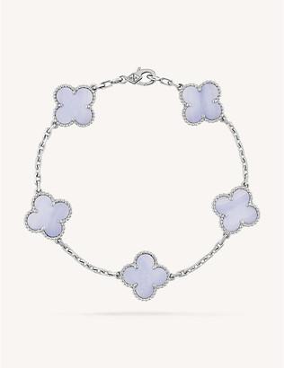 Van Cleef & Arpels Women's White Gold Vintage Alhambra And Chalcedony Bracelet