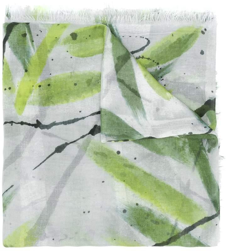 Faliero Sarti Leafs Print Scarf Shopstyle