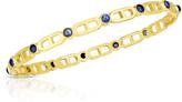 Audrey C. Jewels Cheval 18k Sapphire Bangle Bracelet, Large