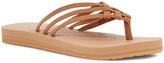 Sanuk Women's Flip-Flops Tabacco - Tan & Tabacco Brown Yoga Sandy Flip-Flop - Women