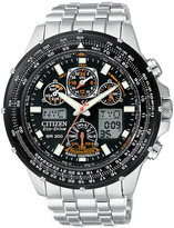 Citizen Men's Eco-Drive Skyhawk Atomic Stainless Steel Bracelet Watch 45mm JY0000-53E