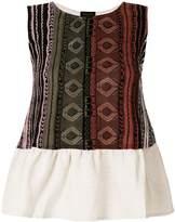 Roberto Collina striped ruffle trim blouse