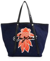 See by Chloe Andy Denim Fish Patch Tote