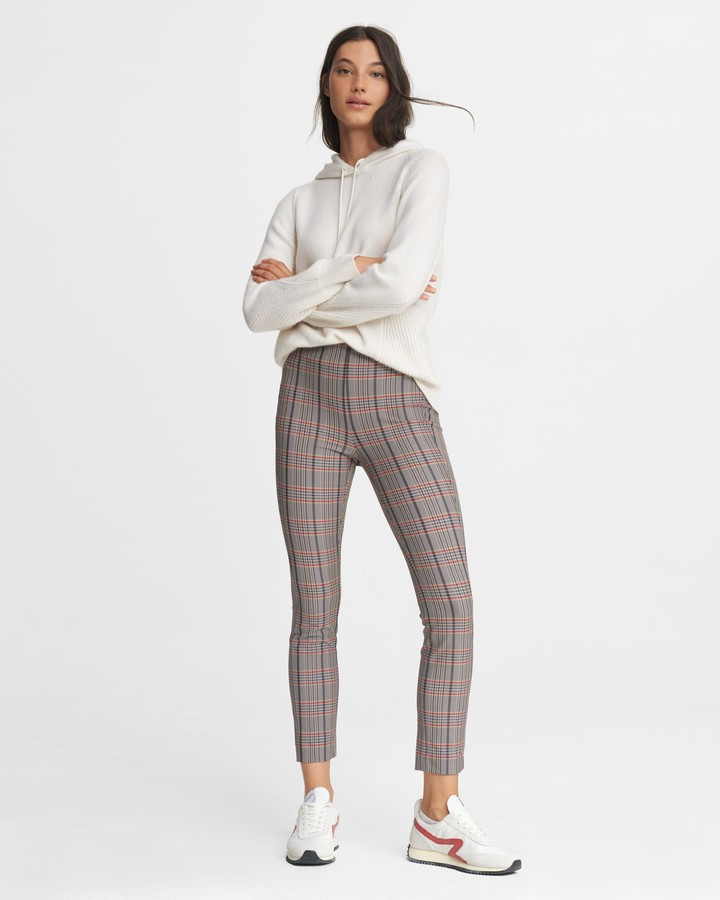 Thumbnail for your product : Rag & Bone Simone pant - check italian stretch