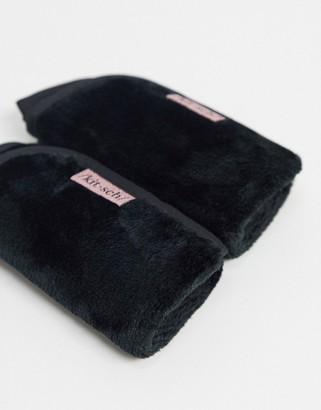 Kitsch Microfiber Make Up Removing Towels - Black-No color