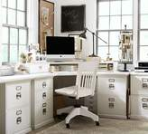 Pottery Barn Bedford Smart TechnologyTM Corner Desk Hutch, Antique White
