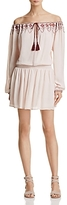 En Creme Embroidered Off-the-Shoulder Dress