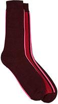 Paul Smith Men's Vertical-Striped Mid-Calf Socks