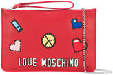 Love Moschino Love Pixel clutch bag
