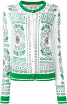 Tory Burch patterned cardigan - women - Cotton/Viscose - M