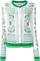 Tory Burch patterned cardigan - women - Cotton/Viscose - XL