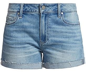 Paige Jimmy Jimmy Relax-Fit Raw Cuff Denim Shorts