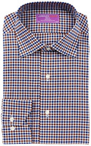 Lorenzo Uomo Long Sleeve Trim Fit Mini Check Dress Shirt
