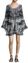 Camilla Embellished Silk Off-the-Shoulder Frill Dress