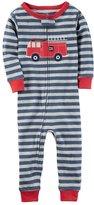 Carter's Toddler Boy Fire Truck Footless Pajamas