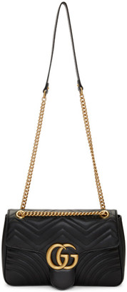 Gucci Black Medium GG Marmont 2.0 Shoulder Bag