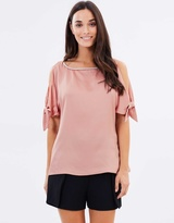 Dorothy Perkins Embellished Neck Tie Top