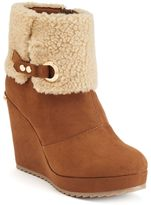 Juicy Couture Women's Buckle Wedge Ankle Boots
